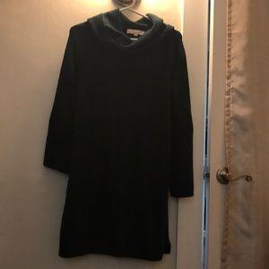 LOFT oversized dress dark green size XS